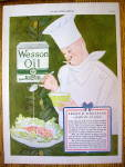 1927 Wesson Oil with Chef Making Salad