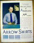 1929 Arrow Arablue Shirts with Man in Arablue Shirt