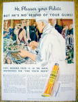 1934 Ipana Toothpaste with Chef Setting Up Buffet