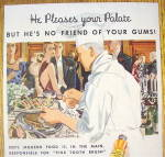 Click to view larger image of 1934 Ipana Toothpaste with Chef Setting Up Buffet (Image2)