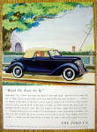 1936 Ford wtih The Four Passenger Club Cabriolet