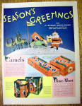 1936 Camel Cigarettes with Santa Claus Holding Pack