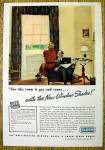 1937 Cloth Window Shade with Woman Looking at Window