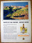 1938 Budweiser Beer with Grand Canyon From South Rim