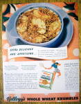 Click to view larger image of 1938 Kellogg Whole Wheat Krumbles with Bowl of Cereal (Image1)