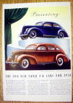1938 Ford V-8 with the Tudor & Fordor Sedans