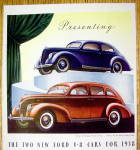 Click to view larger image of 1938 Ford V-8 with the Tudor & Fordor Sedans (Image2)