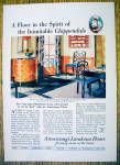 1930 Armstrong Linoleum Floor with Chippendale
