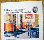 Click to view larger image of 1930 Armstrong Linoleum Floor with Chippendale (Image2)