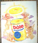 Click to view larger image of 1972 Dole Sliced Pineapple with 5 Angels Around A Can (Image2)