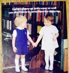 Click to view larger image of 1972 Carter Dress Up Knits w/ 2 Children Holding Hands (Image2)