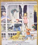 Click to view larger image of 1973 Thank You Chocolate Pudding with Family on Porch (Image2)