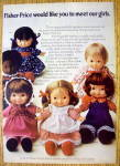 1974 Fisher Price Dolls with 6 Dolls