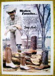 1974 Tony Lama Boots with Ken Curtis
