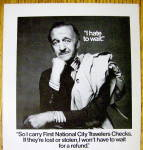 Click to view larger image of 1976 First National City Travelers Checks w/David Niven (Image2)