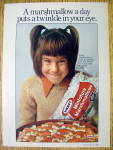 1976 Kraft Miniature Marshmallows with Smiling Girl