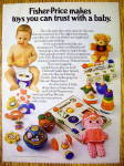 Click to view larger image of 1977 Fisher Price Toys with Baby Playing The Xylo Drum (Image1)