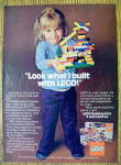 1977 Lego Building Set w/ Little Girl Holding Creation