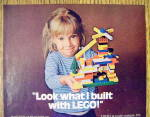 Click to view larger image of 1977 Lego Building Set w/ Little Girl Holding Creation (Image2)