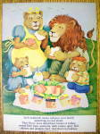Click to view larger image of 1977 Leo Sandwich Meat with Lion Family Picnicing (Image1)