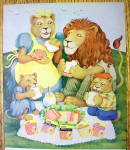 Click to view larger image of 1977 Leo Sandwich Meat with Lion Family Picnicing (Image2)