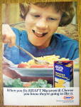 Click to view larger image of 1978 Kraft Macaroni & Cheese with Boy Eating (Image1)