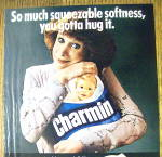 Click to view larger image of 1980 Charmin Toilet Tissue with Woman Smiling (Image2)