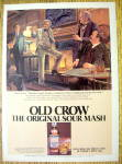 Click here to enlarge image and see more about item 16772: 1980 Old Crow Whiskey with Mark Twain
