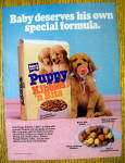 1986 Puppy Kibbles & Bits w/ Puppy & Pacifier in Mouth