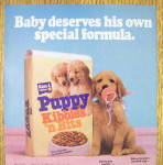Click to view larger image of 1986 Puppy Kibbles & Bits w/ Puppy & Pacifier in Mouth (Image2)