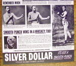 Click to view larger image of 1937 Silver Dollar Whiskey with Prize Fights (Image4)