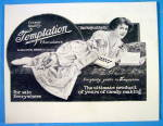 1913 Temptation Chocolate with Woman Eating Candy
