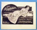 Click to view larger image of 1913 Temptation Chocolate with Woman Eating Candy (Image2)
