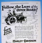 Click to view larger image of 1927 Harley Davidson with Men on Motorcycle (Image2)