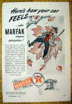 Click to view larger image of 1944 Marfak Lubrication with Man On Leaf (Image1)
