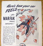 Click to view larger image of 1944 Marfak Lubrication with Man On Leaf (Image2)