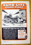 Click to view larger image of 1944 Auto Lite Spark Plugs with Woman & Wrecked Car (Image1)