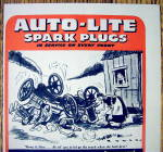 Click to view larger image of 1944 Auto Lite Spark Plugs with Woman & Wrecked Car (Image2)