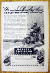 Click to view larger image of 1944 Harley Davidson With Man Riding In Rain (Image1)