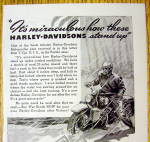 Click to view larger image of 1944 Harley Davidson With Man Riding In Rain (Image2)