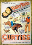 Click to view larger image of 1950's Curtiss Baby Ruth Candy Bar with Boy On A Horse (Image2)