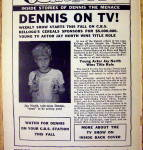 Click to view larger image of 1959 Dennis On TV w/ Jay North TV's Dennis The Menace (Image2)