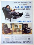 Click to view larger image of 1970 La-Z-Boy Reclining Chair With Man & Little Girl (Image2)