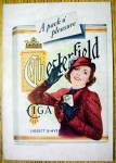 Click to view larger image of 1937 Chesterfield Cigarettes w/Woman Holding Cigarettes (Image2)