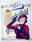 Click to view larger image of 1937 Chesterfield Cigarettes w/Woman Holding Cigarettes (Image3)
