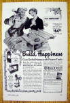 Click here to enlarge image and see more about item 16929: 1949 Delta Homecraft Power Tools with Happy Man