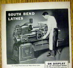 Click to view larger image of 1940 South Bend Lathes with Man Working (Image2)