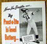 Click to view larger image of 1953 Prest -O- Lite Battery with Norm Van Brocklin (Image2)