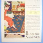 Click to view larger image of 1931 Bigelow Sanford w/ Woman Looking at Rug (Image2)
