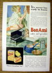1931 Bon Ami with Girl Cleaning Doll House